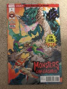 Marvel Monsters Unleashed 8 *Error* Recalled *Luke Cage Pages* NM