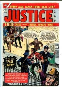 JUSTICE #50-ATLAS-PRE-CODE CRIME-DICK AYERS-PRISON-VIOLENT CRIME-vg/fn