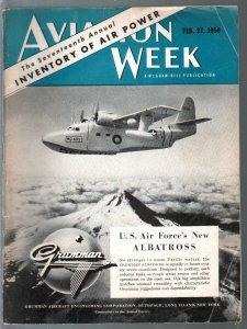 Aviation Week 2/27/1950-Air Power inventory-aviation photos-stories-info-P