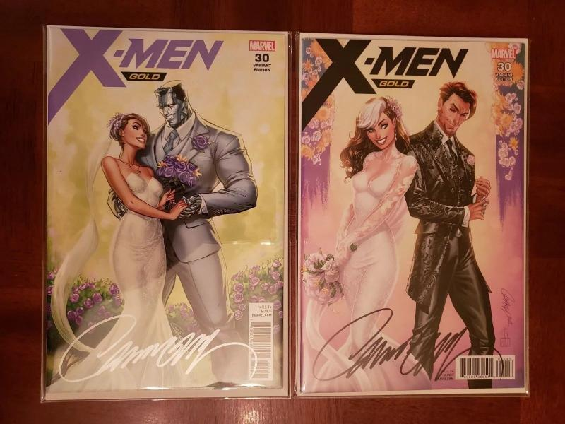 X-MEN GOLD #30 J SCOTT CAMPBELL EXCLUSIVE SIGNED TWO COVER SET