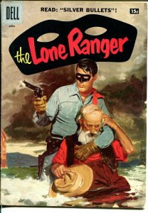 Lone Ranger #106 1957-Dell-painted cover-Silver Bullets-15¢ variant-VG/FN
