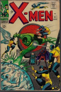 X-men #21 (Marvel, 1966) VG/F