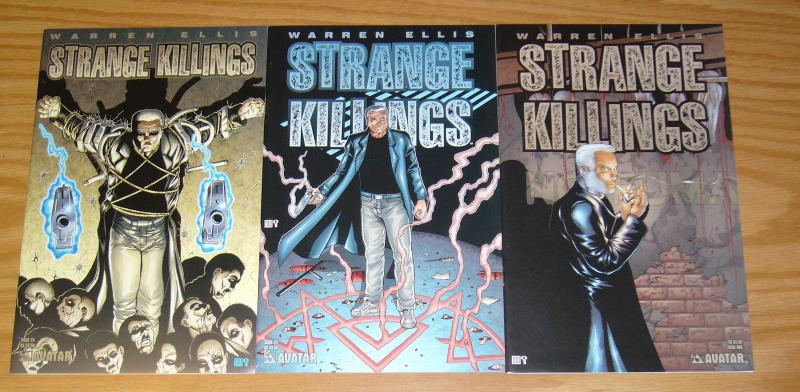 Warren Ellis' Strange Killings #1-3 VF/NM complete series - mike wolfer avatar 2
