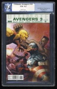 Ultimate Avengers #18 PGX NM 9.4 White Pages