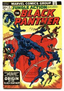 JUNGLE ACTION #8 Black Panther origin - Marvel - comic book FN+