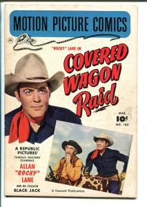 Motion Picture Comics #103 1951-Rocky Lane-Covered Wagon Raid-B-Western-VG
