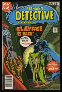 Detective Comics #478 FN+ 6.5 Batman! Signed by Marshall!