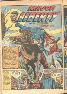 USA COMICS #3-1941-TIMELY-MAJOR LIBERTY-CAPT TERROR-ROCKMAN-INCOMPLETE--RARE
