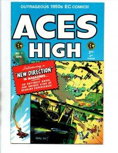 Aces High #1 3 4 & 5 - War - EC Comics - 1950s reprint - 1999 - NM