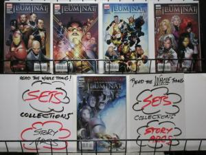 NEW AVENGERS ILLUMINATI (2007) 1-5  complete series!