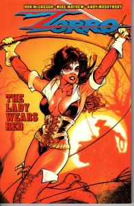 Zorro: The Lady Wears Red! Trade Paperback! Mike Mayhew! Great Looking Book!