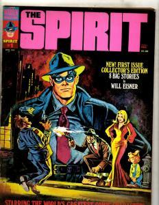 The Spirit # 1 FN Warren Comic Book Magazine Will Eisner April 1974 Crime NE1