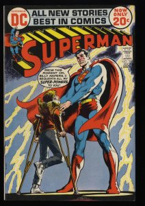 Superman #254 FN 6.0 Tongie Farm Collection Neal Adams Cover!
