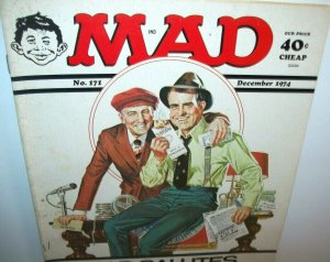 MAD Magazine The Sting Robert Redford Paul Newman Dec 1974 No 171 Rookies