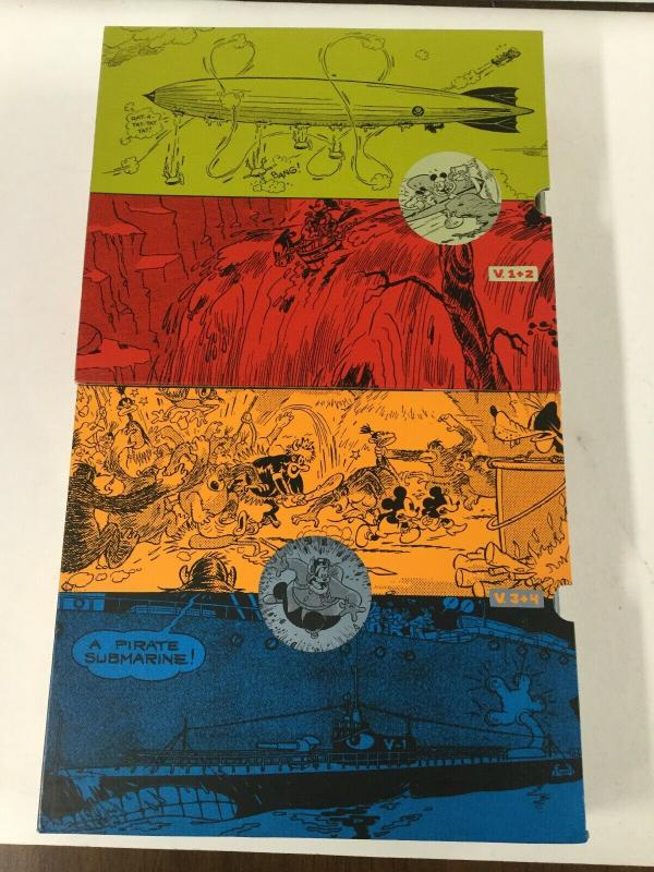 Walt Disneys Mick Mouse Box Set Dailies Floyd G 1 2 3 4 Near Mint Hardcover B17