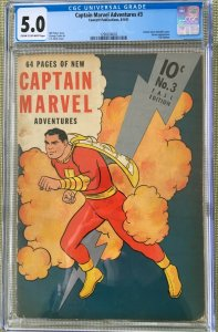 CAPTAIN MARVEL ADVENTURES #3 CGC 5.0 -- SIVANNA APPEARANCE C.C. BECK SHAZAM