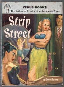 Venus Books #169 1952-Strip Street-Gene Harvey-George Gross spicy cover-VG