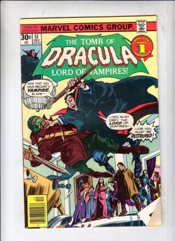 Tomb of Dracula #51 (Dec-76) VG/FN Mid-Grade Dracula