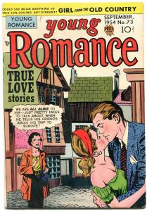 YOUNG ROMANCE #73 1954-KIRBY LAYOUTS-PRIZE COMICS-very good/fine VG/FN