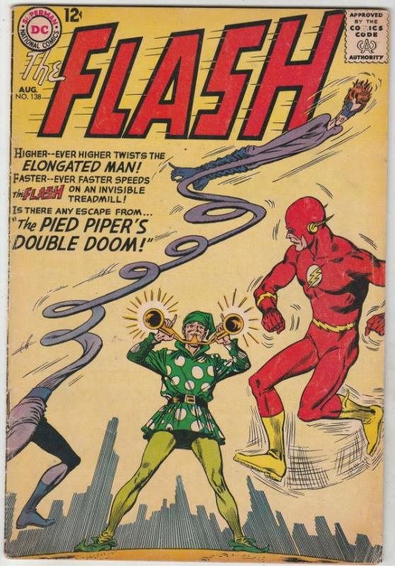 Flash, The #138 (Aug-63) FN- Mid-Grade Flash