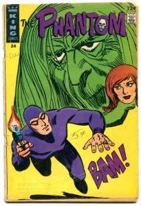 THE PHANTOM #24 1967-KING COMIC-WILD COVER GIRL PHANTOM G