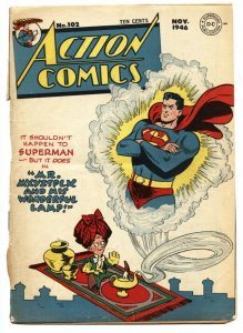 Action Comics #102 FRONT COVER and SUPERMAN STORY only