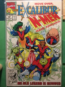 Excalibur #45 The Unearthly N-Men Have Arrived