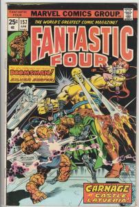 Fantastic Four #157 (Apr-75) FN+ Mid-High-Grade Fantastic Four, Mr. Fantastic...