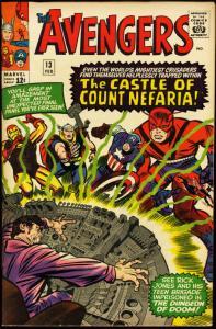AVENGERS #13 1964-FN MINUS-DON HECK-THOR-IRON MAN-MARVEL FN-