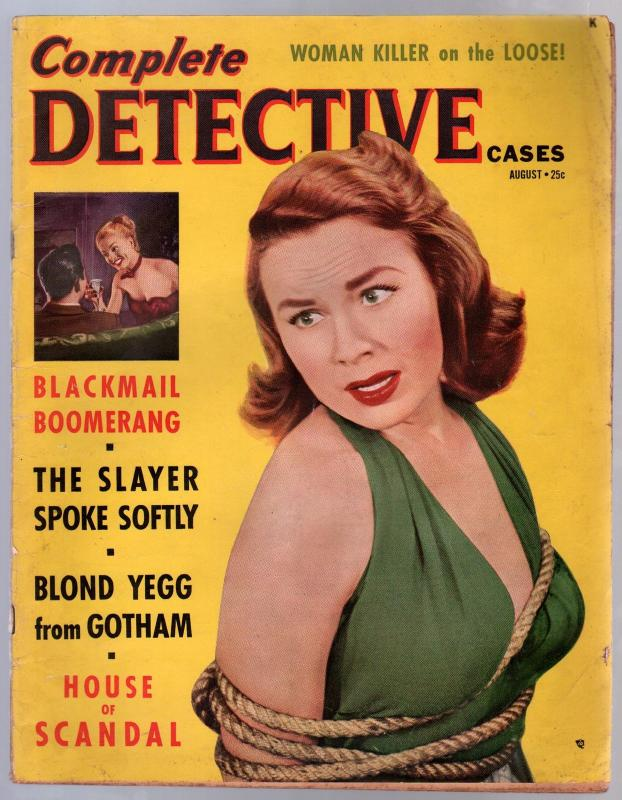 Complete Detective Cases August 1951-Atlas-exploitation-pulp thrills--VG