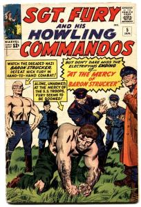 Sgt. Fury And His Howling Commandos #5 1964-1st BARON STRUCKER-comic book vg