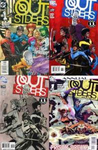 OUTSIDERS (2003) 1-34,34a,35-50,Annual 1  BAG & BOARDED