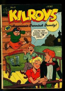 Kilroys #9 1948- Golden Age Humor- Milt Gross - FN-