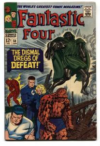 FANTASTIC FOUR #58 comic book 1966-DR DOOM-SILVER SURFER-INHUMANS FN