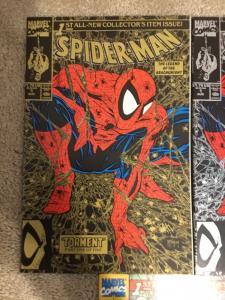 Marvel Spider-Man 1 Todd McFarlane * Silver * Gold * Color * Variant VF+/NM 1990