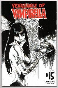 Vengeance of Vampirella #15 Castro 1:11 B&W Variant (VF/NM) [ITC575]