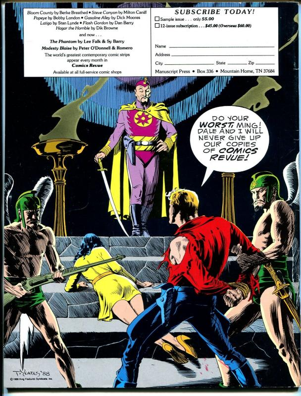 Comics Revue #44 1990-Calvin & Hobbes-Steve Canyon-Phantom-Modesty Blaise-VF