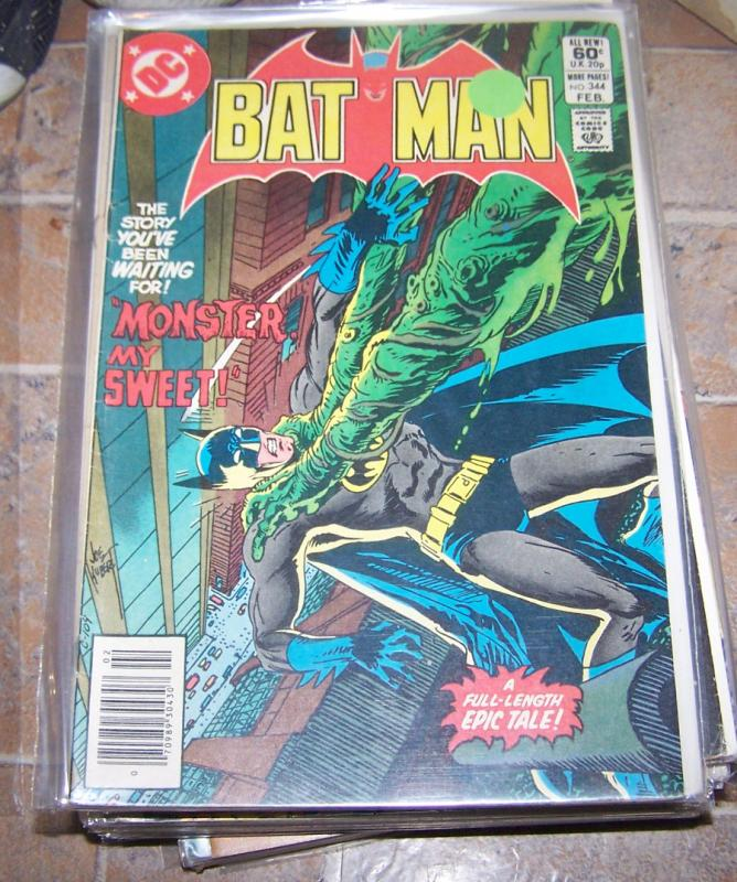 Batman  # 344 DC 1982  MONSTER MY SWEET +KUBERT COVER