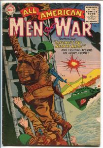 ALL AMERICAN MEN OF WAR #20-1955-WWII-DC-SILVER AGE-RUSS HEATH-JOE KUBERT-vg-