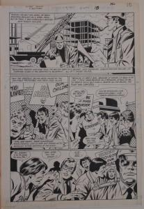 GEORGE TUSKA / PABLO MARCOS original art,SECRET ORIGINS FIRESTORM 4 pg 18,11x16