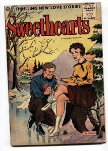 SWEETHEARTS #33 1956-CHARLTON COMIC-Ice Skating cover VG
