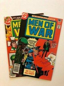 LOT OF 2~DC MEN OF WAR #10 & #19 Gravedigger FINE/VERY FINE  (A162)