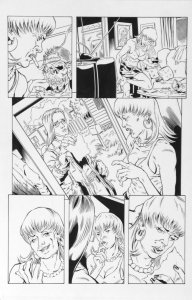 DEAN KOTZ Original Published Art, TRAILER PARK of TERROR #7 page 2, Zombie