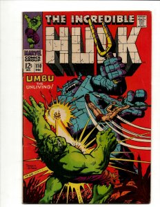 Incredible Hulk # 110 VF Marvel Comic Book Iron Man Captain America Thor BJ1
