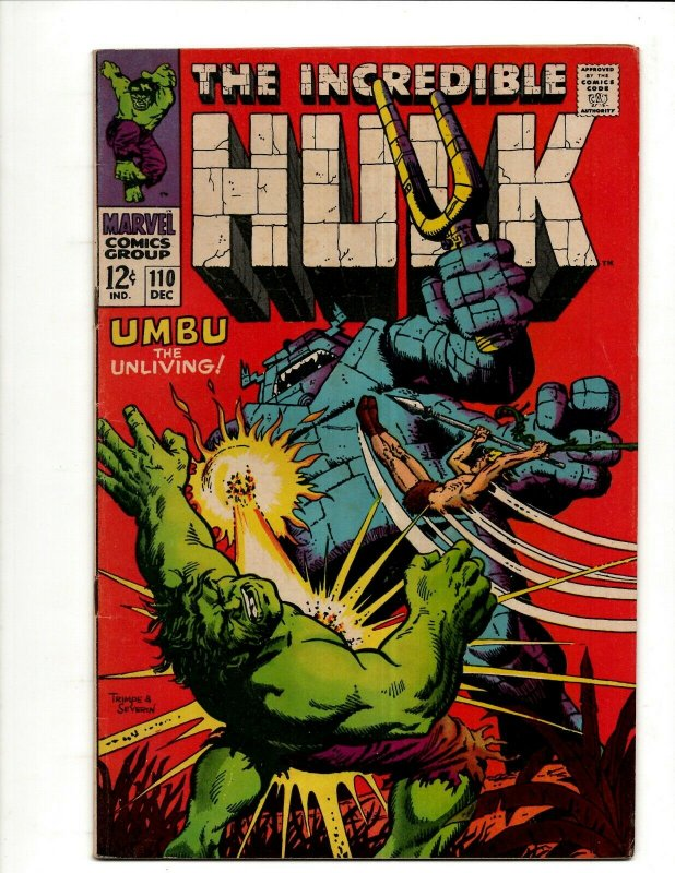 Incredible Hulk # 110 VF Marvel Comic Book Iron Man Captain America Thor BJ1