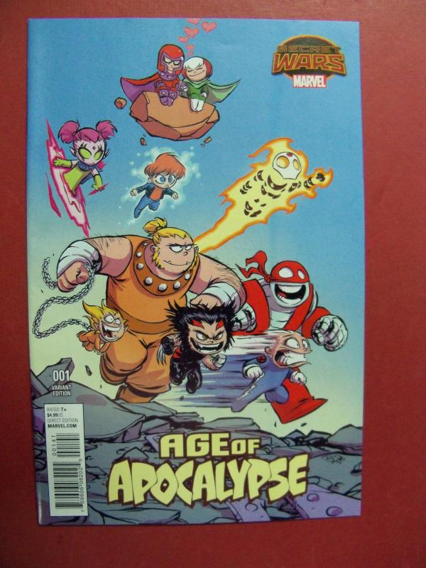 AGE OF APOCALYPSE,  SECRET WARS, #1,  SKOTTIE YOUNG VARIANT COVER