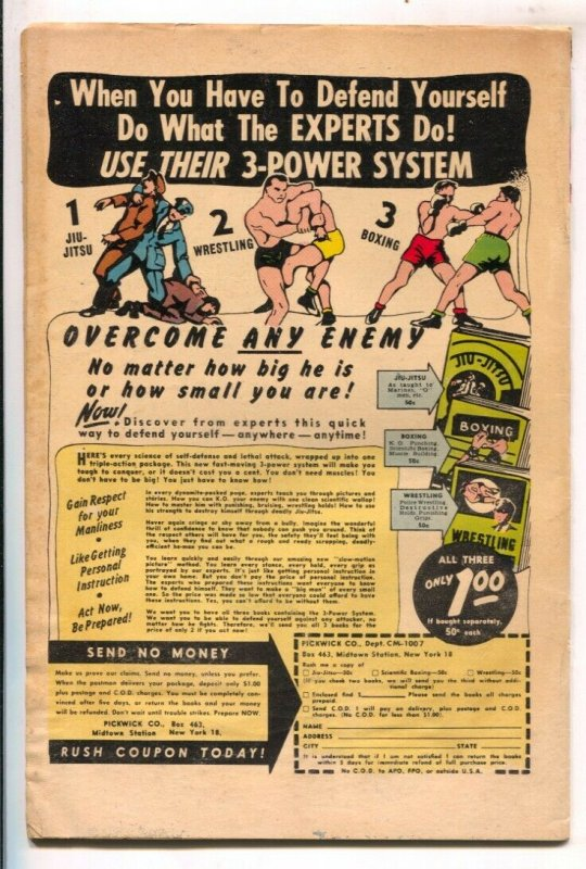 Justice #31 1952-Atlas-violent cover art by Sol Brodsky-tommy gun-George Tusk...