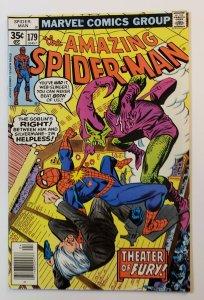 Amazing Spider-Man #179 Marvel Comics 1978 Theater Of Fury, Green Goblin FN/VF