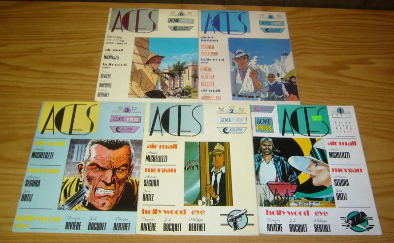Aces Magazine #1-5 VF complete series - jazz age genre fiction - pulp stories