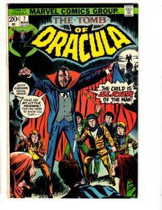 Tomb Of Dracula # 7 VF Marvel Comic Book Vampire Monster Horror Fear TD7